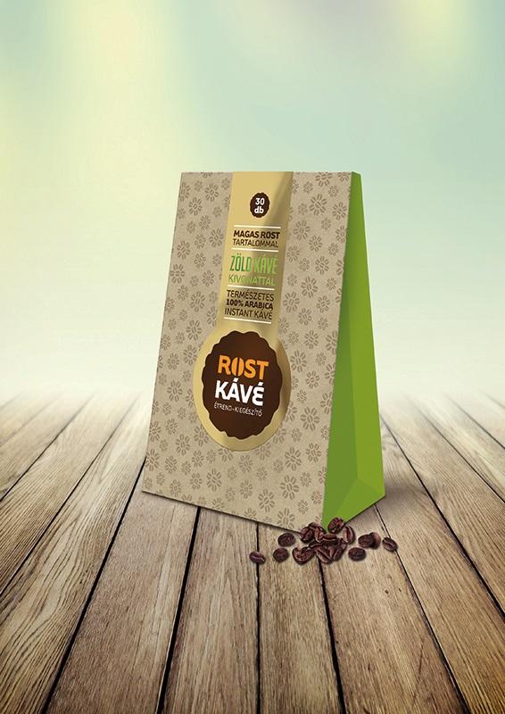 Rost kávé zöld kávé kivonattal